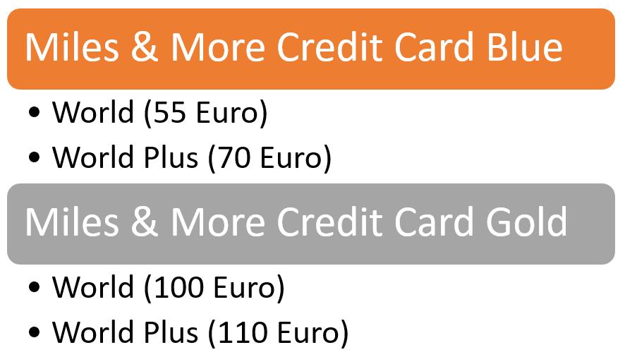Miles & More Kreditkarte Privatkunden