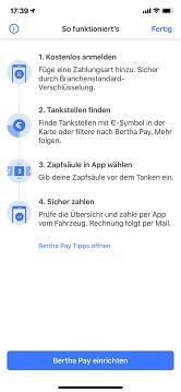 Bertha-App Anmeldung
