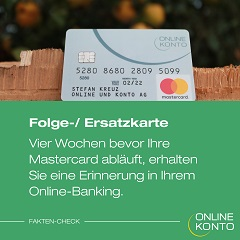 Ersatzkarte Onlinekonto