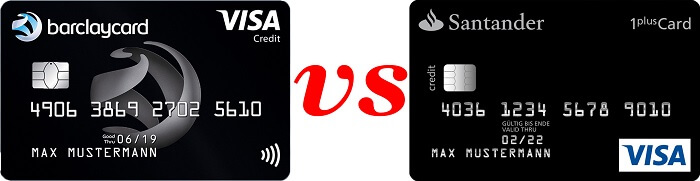 Vergleich: Barclaycard Visa vs. 1plus Visa Card