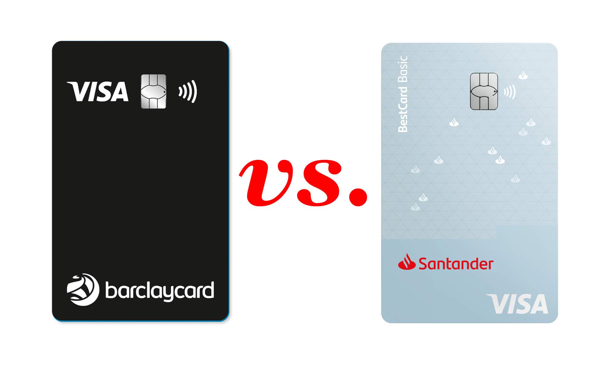 Vergleich: Barclaycard Visa vs. Santander BestCard Basic