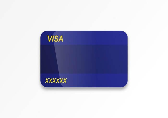 blaue-visa-karte