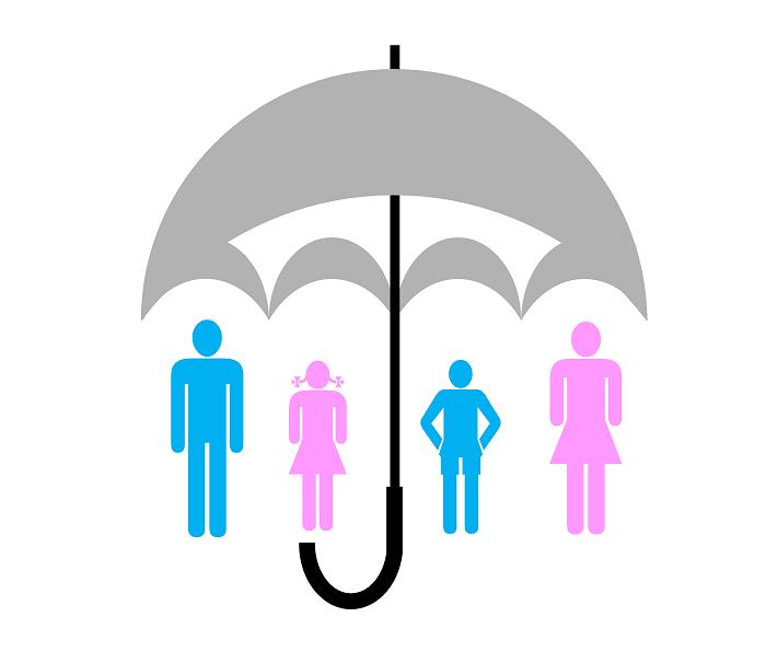familie-versicherung-schirm