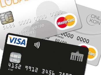 kreditkartenstapel