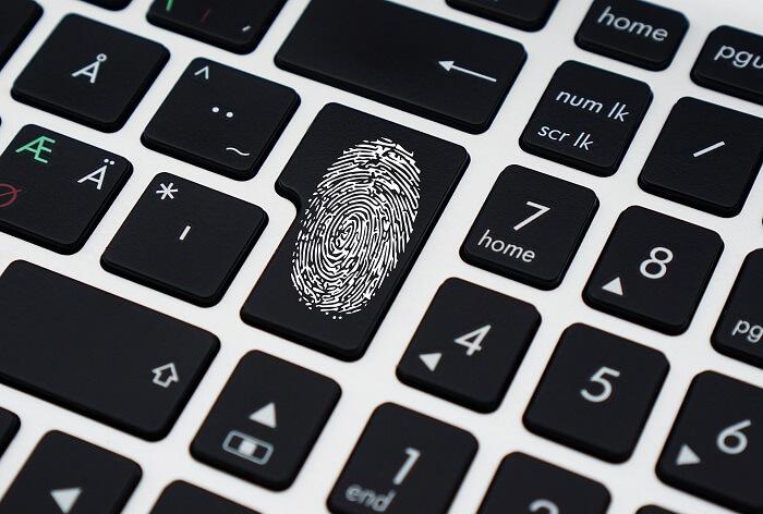 sicherheitstaste-fingerabdruck-tastatur
