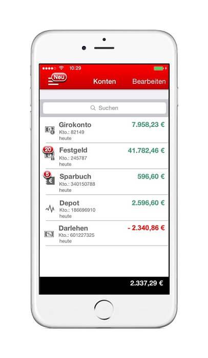 sparkassen-app-kontenliste