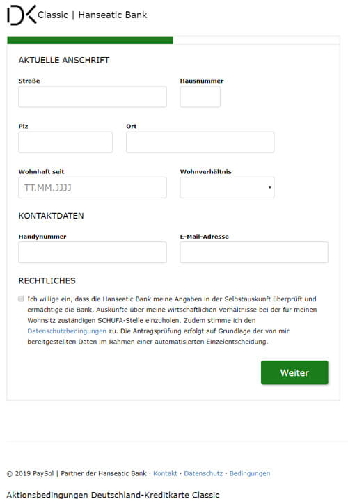 visacard-antrag-schritt-2